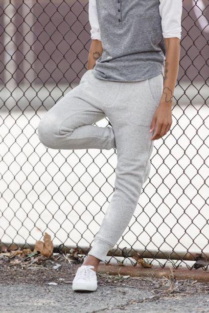 calça saruel masculina cinza claro