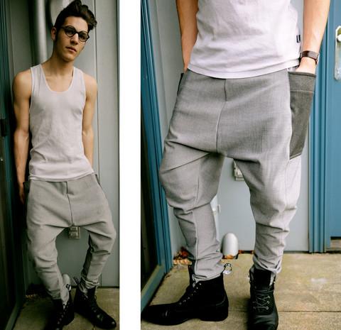calça saruel masculina clara