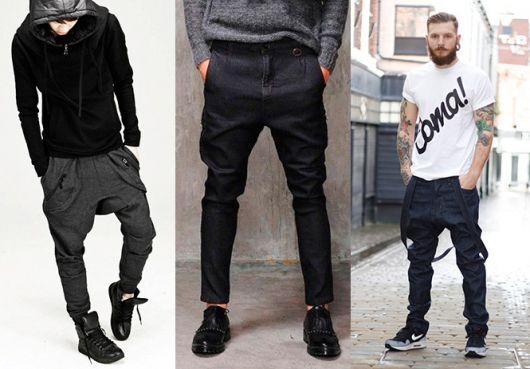 calça saruel masculina jeans