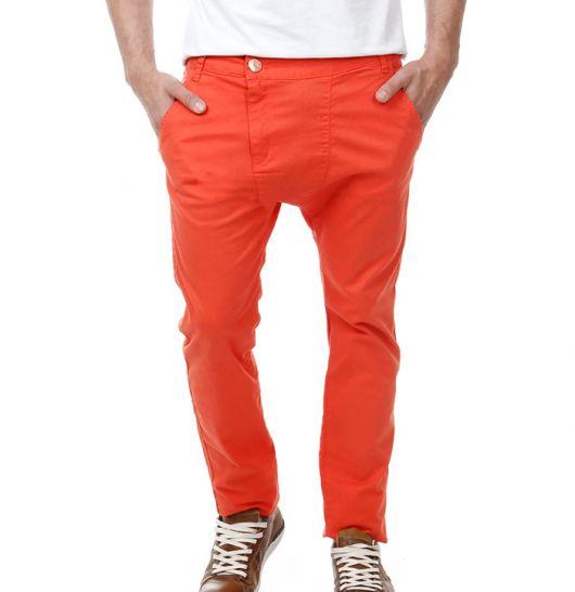 calça saruel masculina laranja