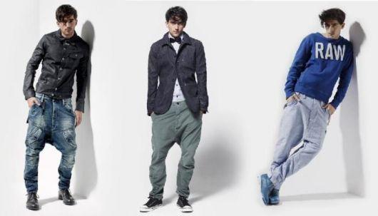 calça saruel masculina moda jeans