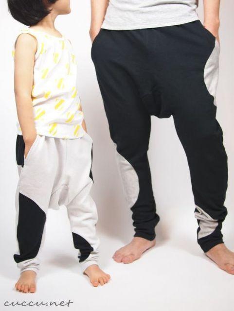 calça saruel masculina pai e filho