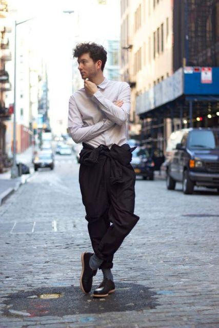 calça saruel masculina para trabalhar
