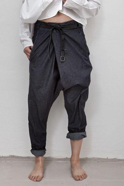 calça saruel masculina tipo jeans