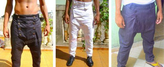 calça saruel masculina tres jeans