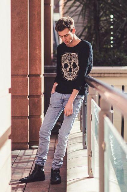 calça skinny masculina alternativa
