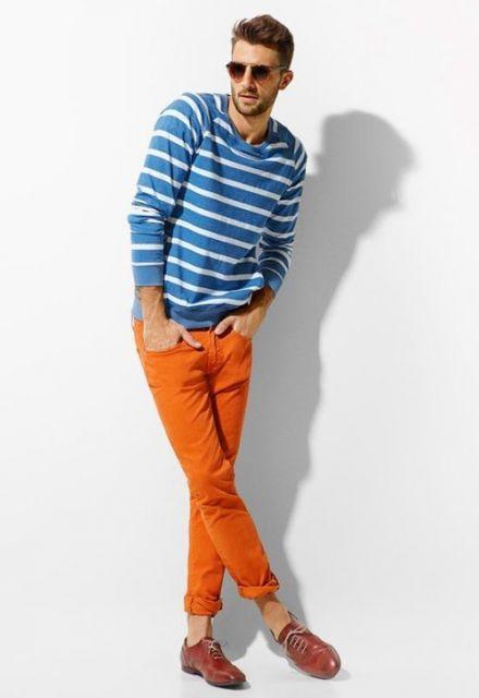 calça skinny masculina colorida