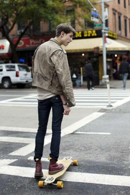 calça skinny masculina com bota