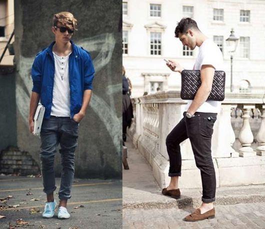 calça skinny masculina dobrada atual