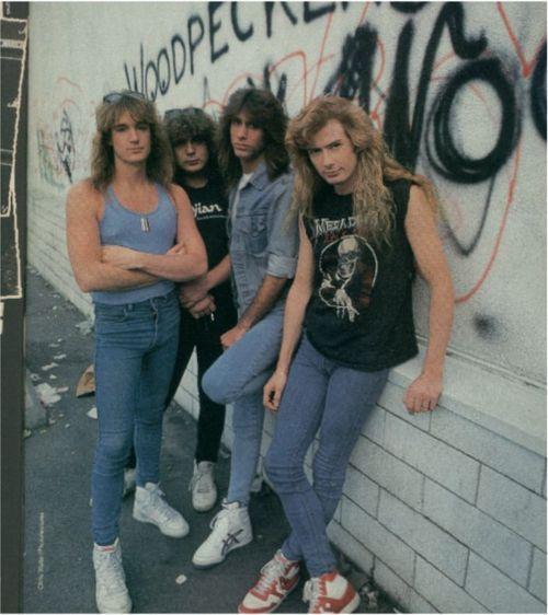calça skinny masculina megadeth metal