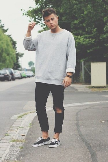 calça skinny masculina rasgada para homens