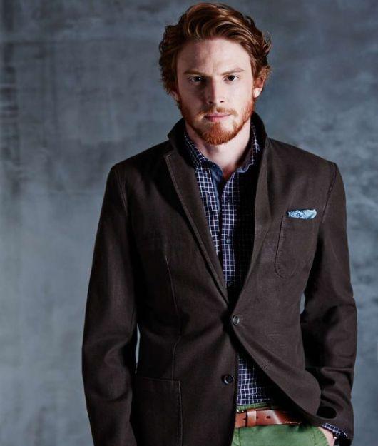 camisa estampada terno sem gravata