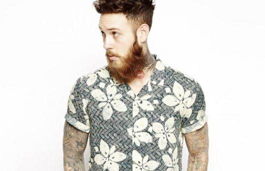 camisa floral homens degrade