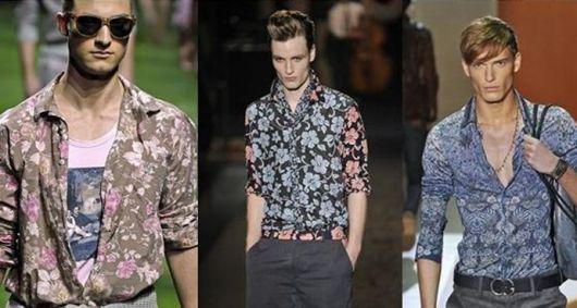 camisa floral manga longa estampada