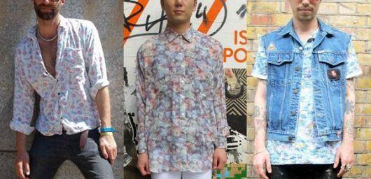 camisa floral masculina capa