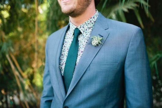 camisa floral masculina casamento