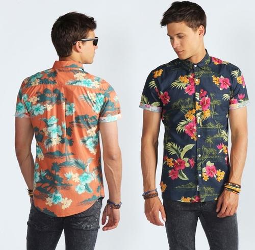 Camisa floral masculina modelos e dicas para usar e for Floral mens t shirts