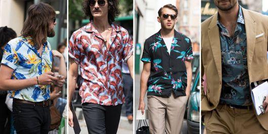 camisa havaiana aberta e dobrada