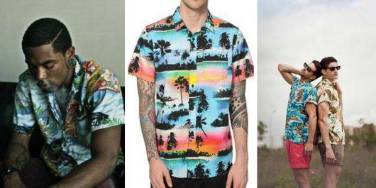 camisa havaiana como usar
