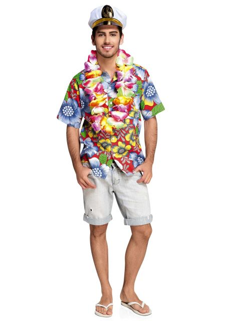 camisa havaiana festa