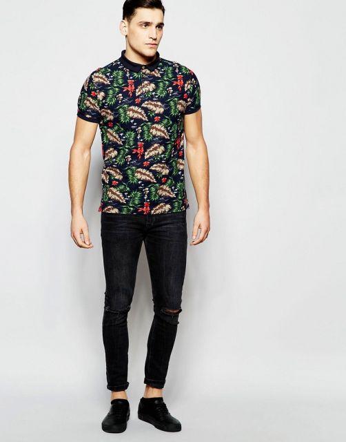 camisa havaiana masculina com calça