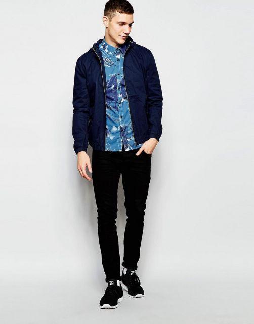 camisa havaiana masculina com jaqueta como usar