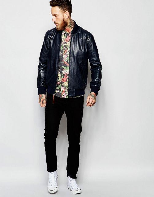 camisa havaiana masculina com jaqueta