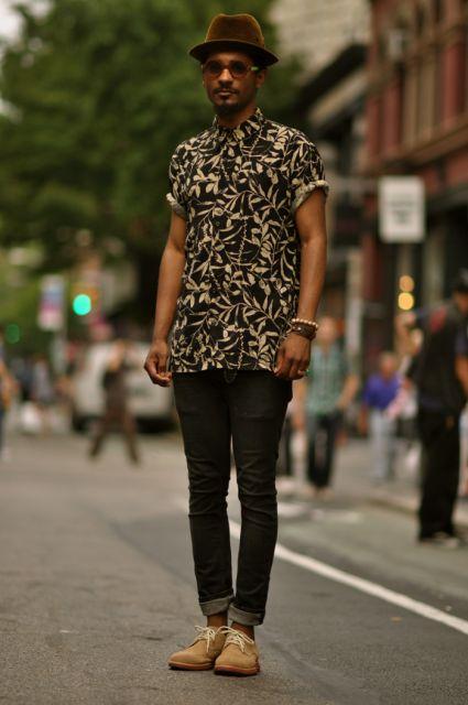 camisa havaiana masculina look urbano