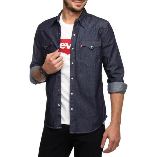 camisa jeans levis sobreposição