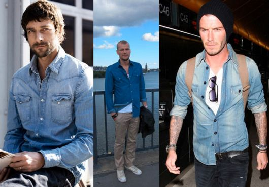 camisa jeans masculina aberta