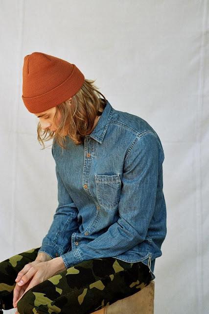 camisa jeans masculina camuflada