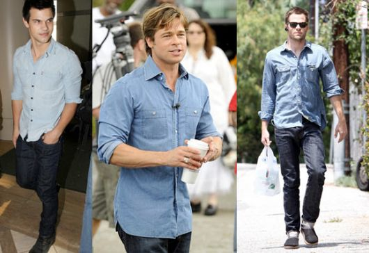 camisa jeans masculina clara 2