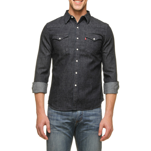 camisa jeans masculina levis para o inverno