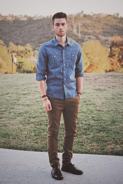 camisa jeans masculina sarja