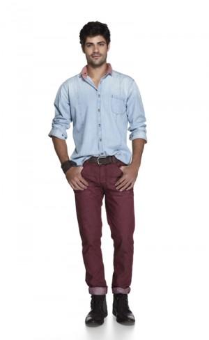 camisa jeans riachuelo