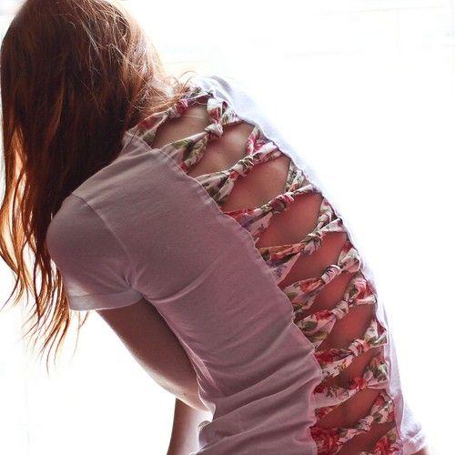 tecido nas costas