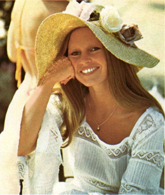 Brigite Bardot de chapéu hat floppy