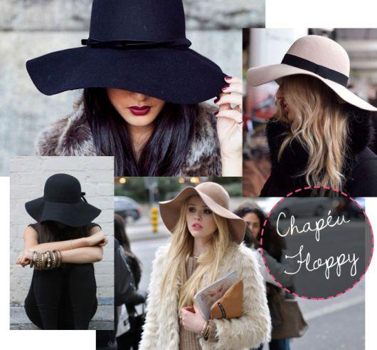 Mulheres com ar de misteriosas com chapéu floppy