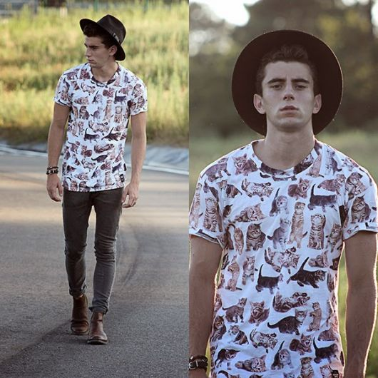 chapeu masculino hipster jovem
