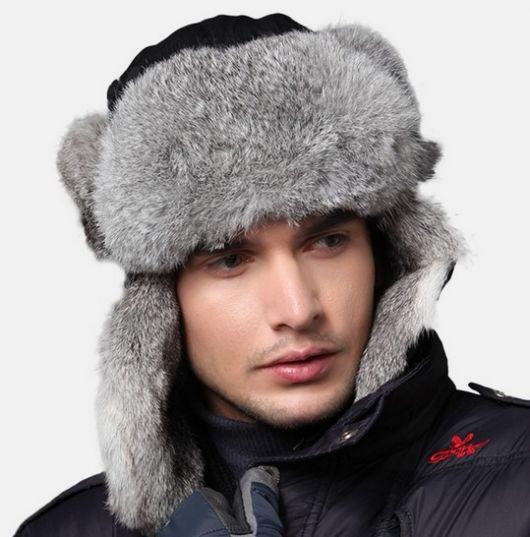 chapeu masculino ushanka