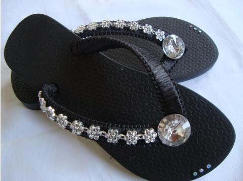 sandália de borracha