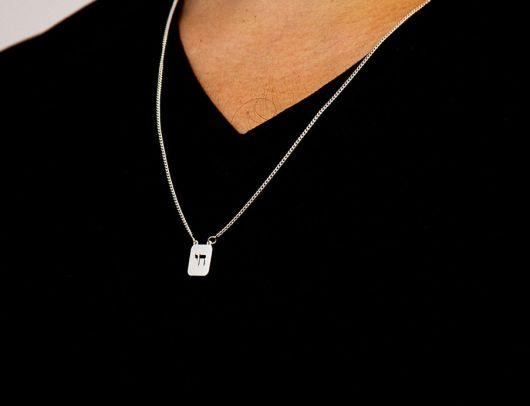 colar de prata simples