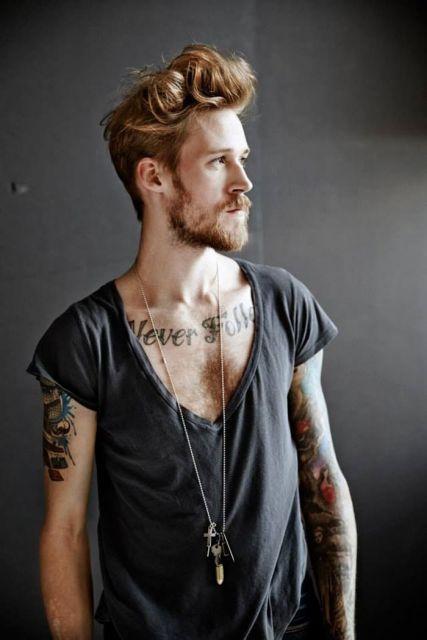 colar masculino super longo com pingentes