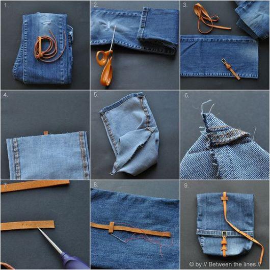 como fazer bolsa jeans