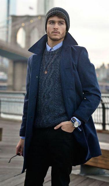 como usar colar masculino no inverno