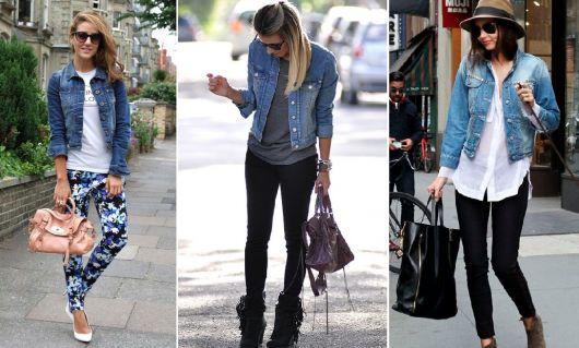 como usar jaqueta jeans - calças