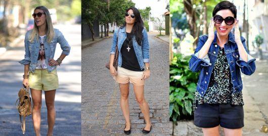 como usar jaqueta jeans - com shorts