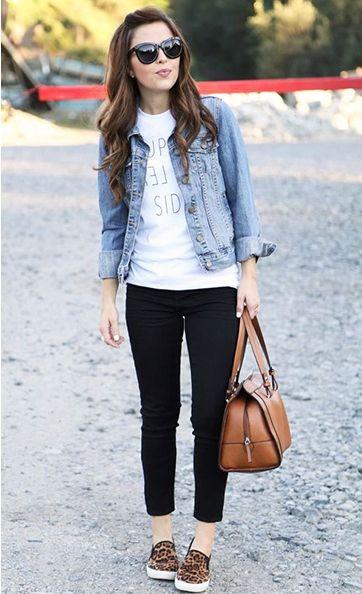 como usar jaqueta jeans - corpo retangular