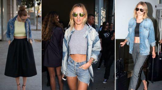 como usar jaqueta jeans - croppeds