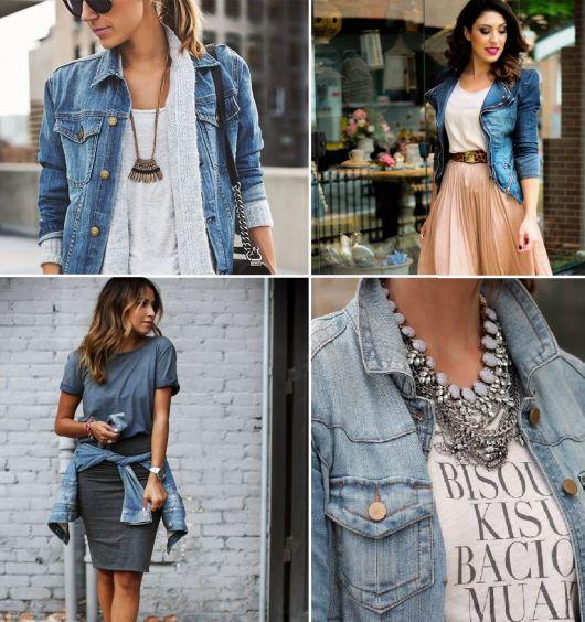 como usar jaqueta jeans - quatro maneiras